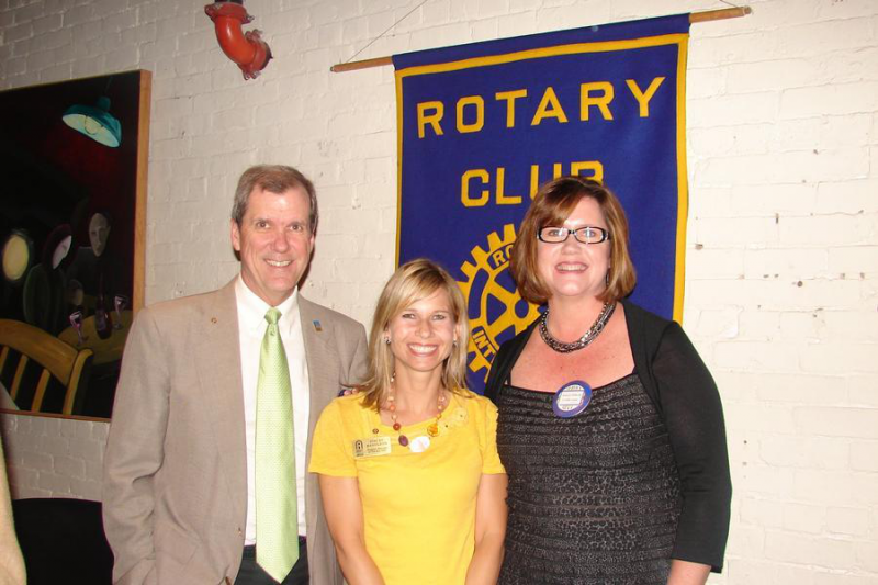 Induction of Stacey Kesel flanked by bill McChain and Andrea Milliron