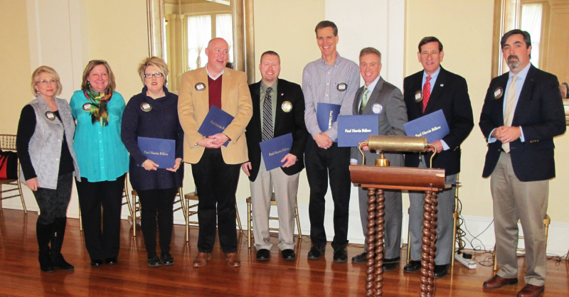 Newly named Paul Harris Fellows 2015